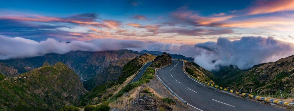 Silnice vedoucí na náhorní plošinu Paul da Serra