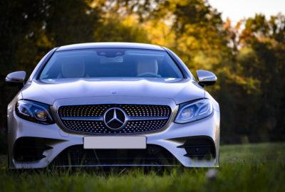 Komerční fotografie - Mercedes E400 Coupe. Martin Šístek fotograf Plzeň