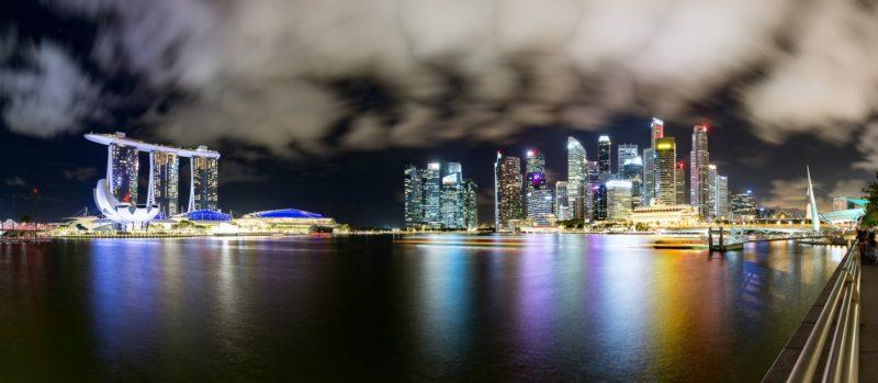 Noční panorama Singapuru - Malajsie cestopis, Martin Šístek